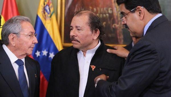 Image result for raul castro Daniel Ortega Nicolas maduro