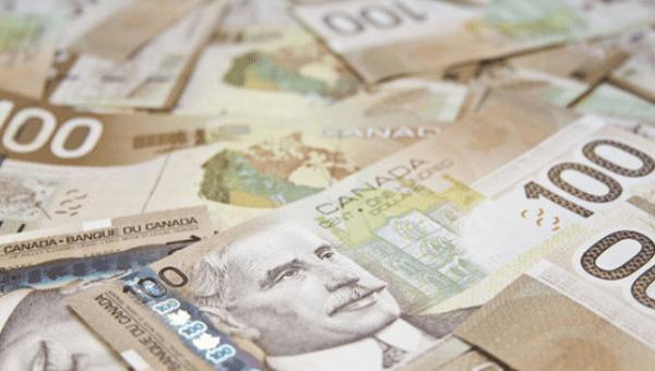 Canadian Cad 100 Bills