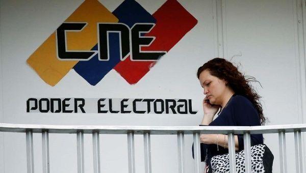 The logo of the Venezuelan election authorities CNE