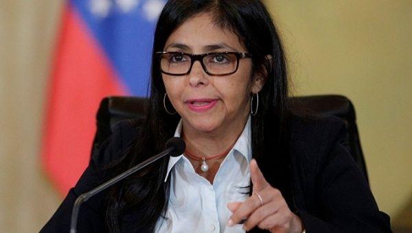 Venezuelan Vice President Delcy Rodriguez.