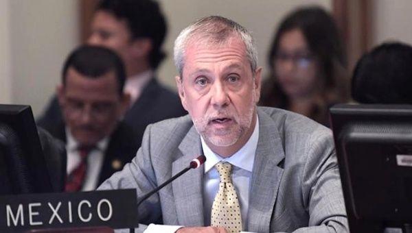 The Permanent Representative of Mexico to the Organization of American States (OAS), Jorge Lomonaco.