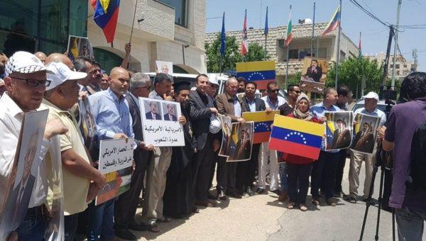 Palestinians rally for Venezuela