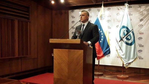 Venezuelan Attorney General Tarek William Saab during his Tuesday press conference.