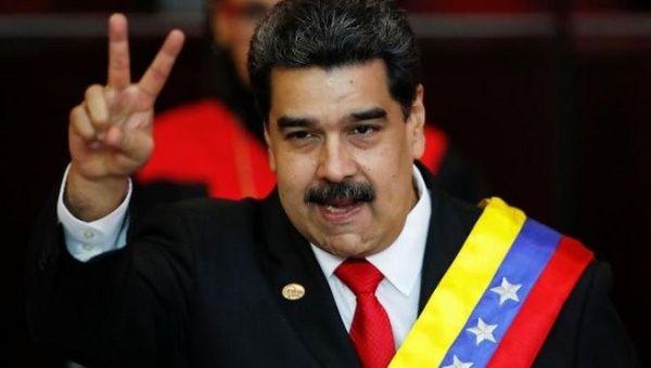 Venezuelan President Nicolas Maduro during his 2019 inauguration