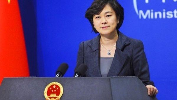 Foreign Ministry spokesperson Hua Chunying condemned US blockade against Venezuela.