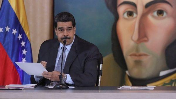 President Nicolas Maduro at a news conference in Caracas, Venezuela, Sep. 30, 2019.