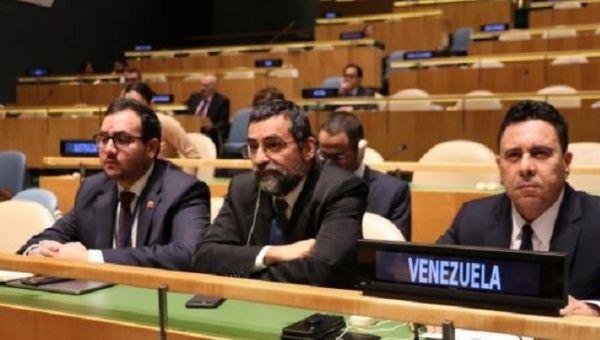 The Venezuelan diplomat ratified the position of the UN, despite the destabilizing attempts of foreign powers.
