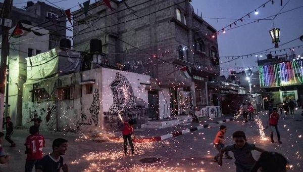 Ramadan nights in Gaza, Palestine.