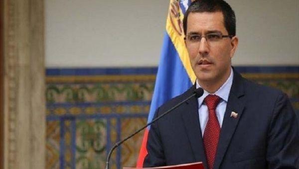 Venezuela's  Chancellor, Jorge Arreaza.
