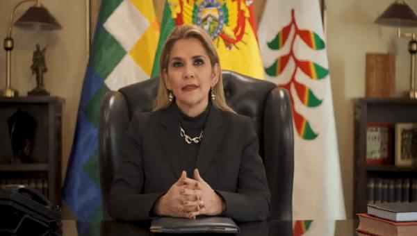 Jeanine Añez at the Government Palace, La Paz, Bolivia. June 4, 2020.