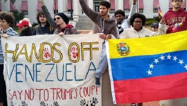 Rally in rejection of the U.S. destabilizing plan against Venezuela, 2019.