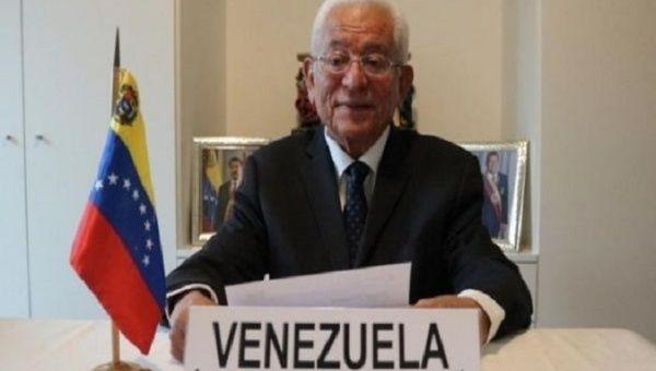 Ambassador Jorge Valero in Caracas, Venezuela, 2020.