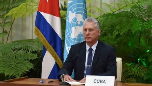 President Miguel Diaz-Canel, Havana, Cuba, October 26, 2020.