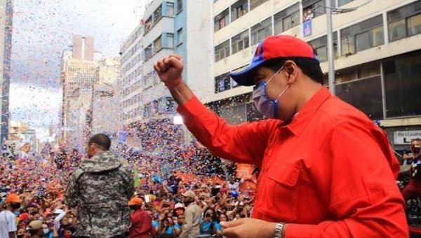 President Nicolas Maduro at a rally in Caracas, Venezuela, Dec. 3, 2020.