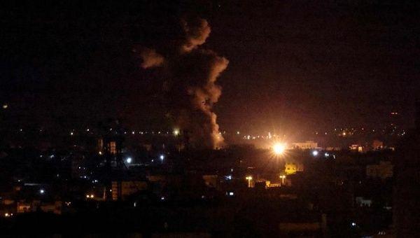 Image of the Israeli attack on Gaza, Sept. 12, 2021.