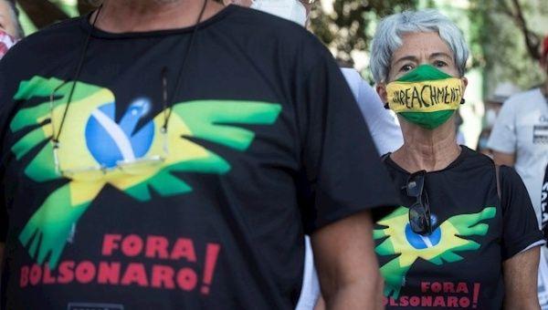 Citizens protest against President Jair Bolsonaro, Brasilia, Brazil, Sept. 12, 2021.