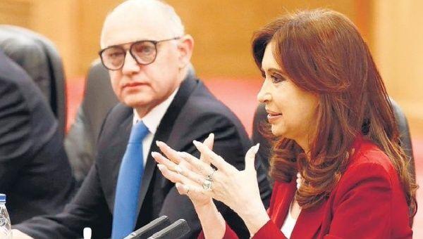 Cristina Fernandez-Kirchner at a hearing, Buenos Aires, Argentina.